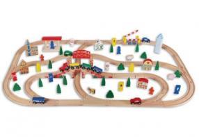 Отзыв на BEEBOO TRAIN Деревянная железная дорога, 100 шт. из Интернет-Магазина MyToys