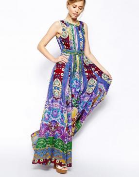 Отзыв на ASOS – Длинное платье с Фолк-Давление из Интернет-Магазина Asos