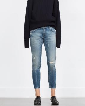 Отзыв на СИГАРЕТЫ ДЖИНСЫ с Средний высокий пояс из Интернет-Магазина Zara