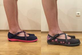 Отзыв на Балетки Летняя гибкий Baoma для женщин серый/розовый NEWFEEL из Интернет-Магазина Decathlon
