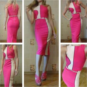 Отзыв на Красное, Платье облегающее в Блок цвет из Интернет-Магазина Riverisland.de