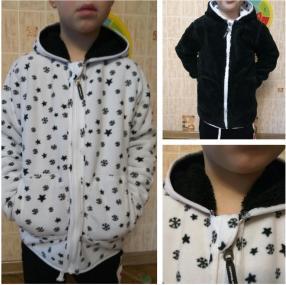 Отзыв на Двусторонний Флис Куртка для мальчика из Интернет-Магазина Vertbaudet