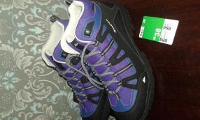 Отзыв на Обувь для ходьбы Arpenaz 100 Mid для детей фиолетовый QUECHUA из Интернет-Магазина Decathlon