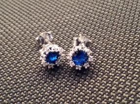 Отзыв на Серьги с кристалл,камень цвет:Королевский синий из Интернет-Магазина Silvity