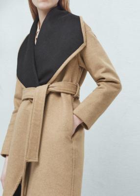 Отзыв на Шерстяное пальто с ШИРОКИМ Реверс из Интернет-Магазина MANGO outlet