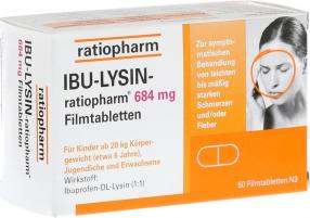 Отзыв на IBU LYSIN ratiopharm 684 mg Filmtabletten 50 St из Интернет-Магазина Best-arznei