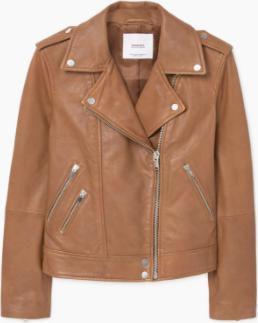 Отзыв на Куртка байкерская с кожи из Интернет-Магазина MANGO