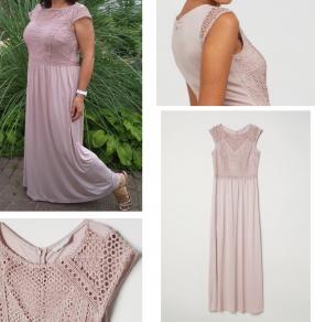 Платье с кружевной кофтой