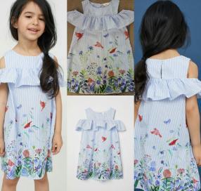 Платье хлопковое с принтом