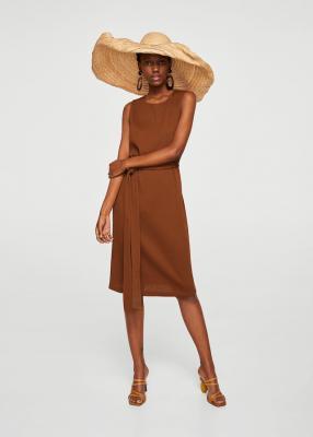 Текстурированный Платье с петлей