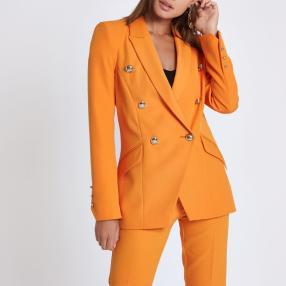 Orange, zweireihige Smoking-Jacke