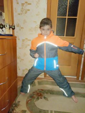 Для мальчика лыжная куртка с полосы