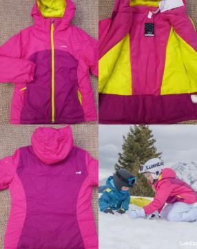Лыжная куртка Трек 100 для детей Роза