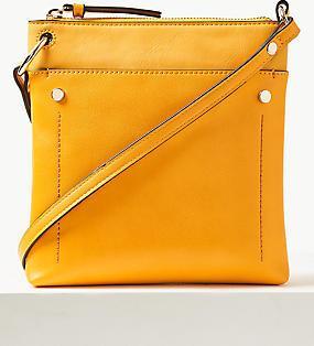 2d14774811e Отзыв на Кожаная сумка через плечо с передним карманом из Интернет-Магазина Marks    Spencer