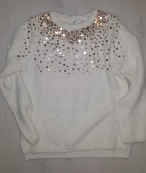 Пуловер с блестками