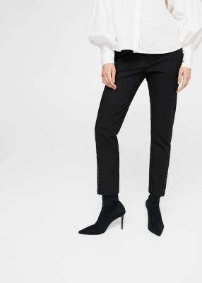 Хлопковые брюки с Кнопками