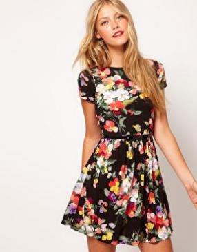 Отзыв на ASOS – Платье с большим цветочный принтом из Интернет-Магазина Asos