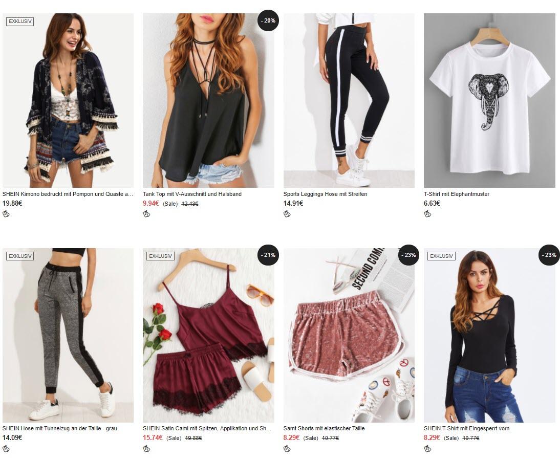Молодежная одежда Доп. скидка 10% из магазина Shein (Германия)