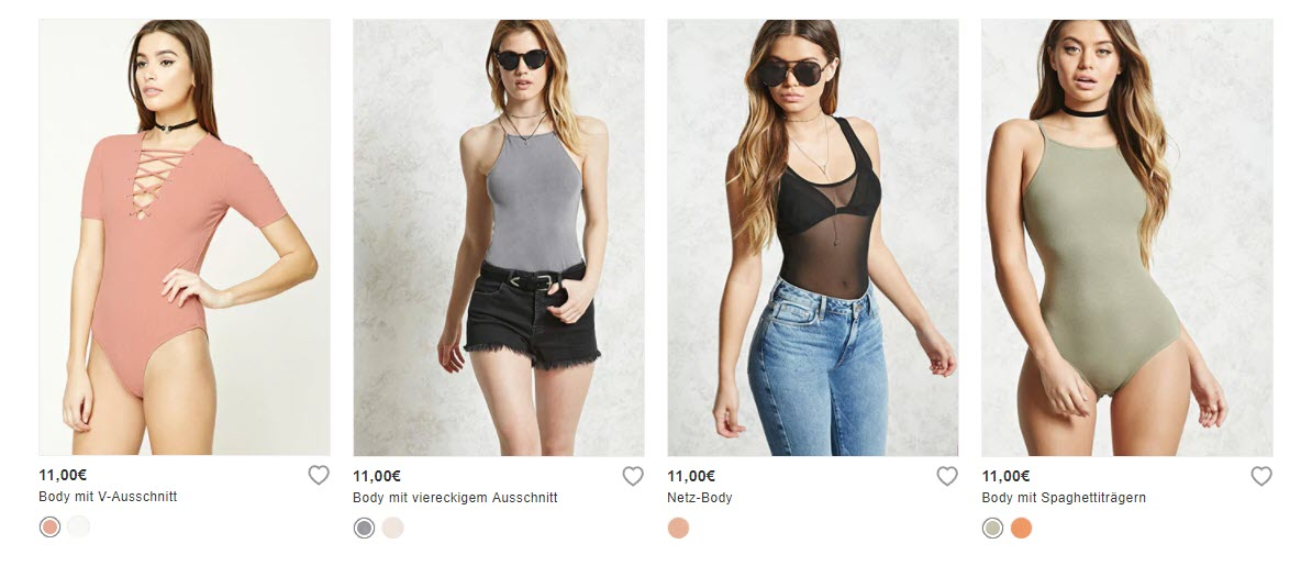 Мужская и женская одежда скидки до 70% из магазина Forever21 (Германия)