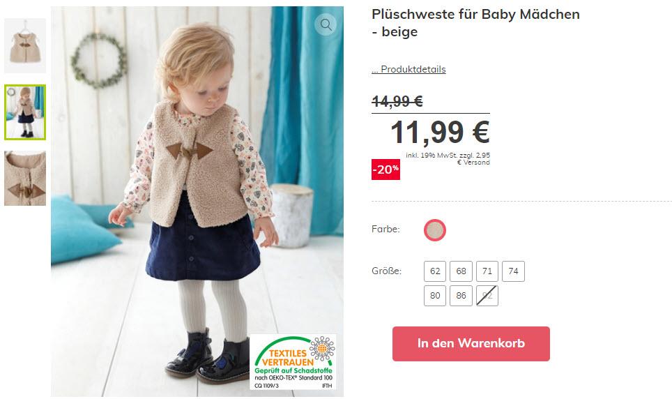 Зимняя детская одежда дополнительно на SALE Доп. скидка 20% из магазина Vertbaudet (Германия)