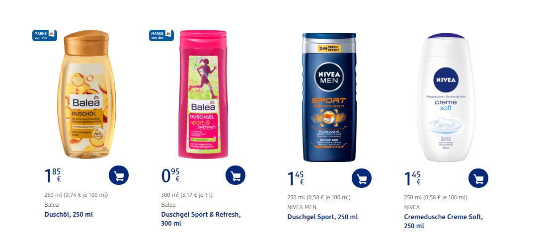 Средства ухода за кожей скидки до 30% из магазина DM (Германия)