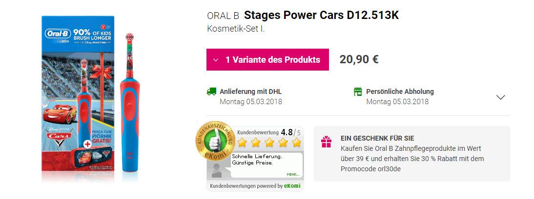 На всю продукцию Oral B Доп. скидка 30% из магазина Notino (Германия)