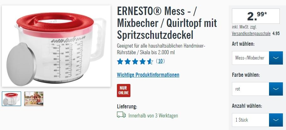 ERNESTO полезное для кухни скидки до 23% из магазина LIDL (Германия)