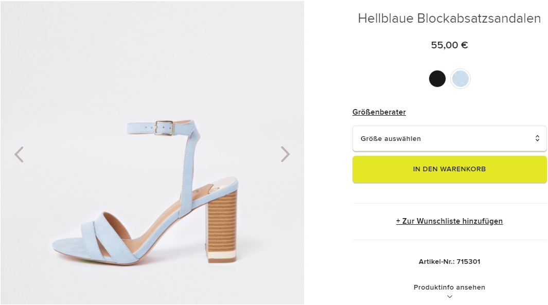 На все кроме раздела SALE доп.скидка 20% из магазина Riverisland.de (Германия)