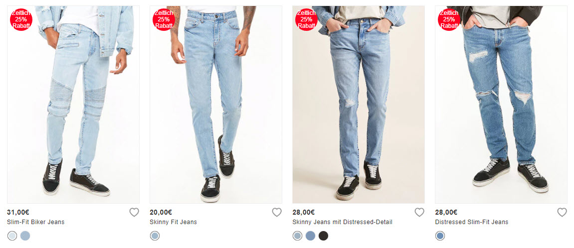 На джинсовую одежду + бесплатный шип Доп. скидка 25% из магазина Forever21 (Германия)