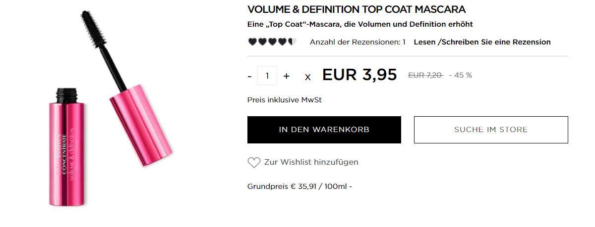 Тушь для ресниц за 3,95 € скидки до 60% из магазина Kikocosmetics (Германия)