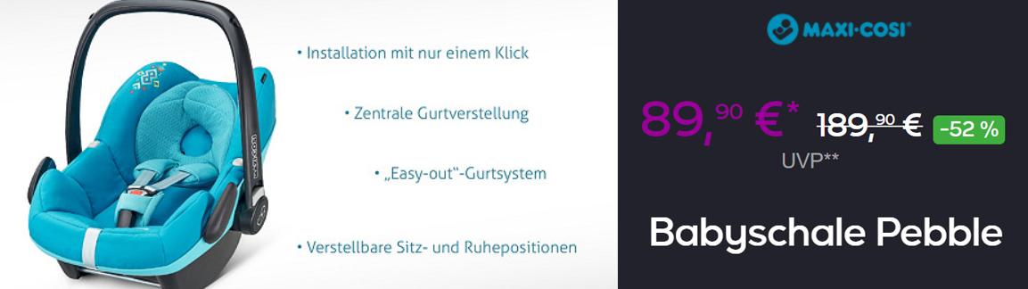 Автокресло MAXI-COSI Pebble  скидка VIP 52% из магазина Vente-Privee.com (Германия)