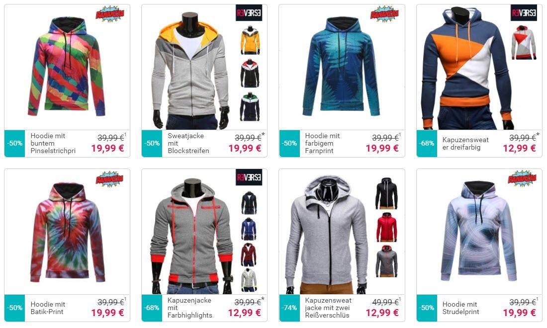 Мужские свитера и толстовки до 20 € скидки до 68% из магазина Lesara (Германия)