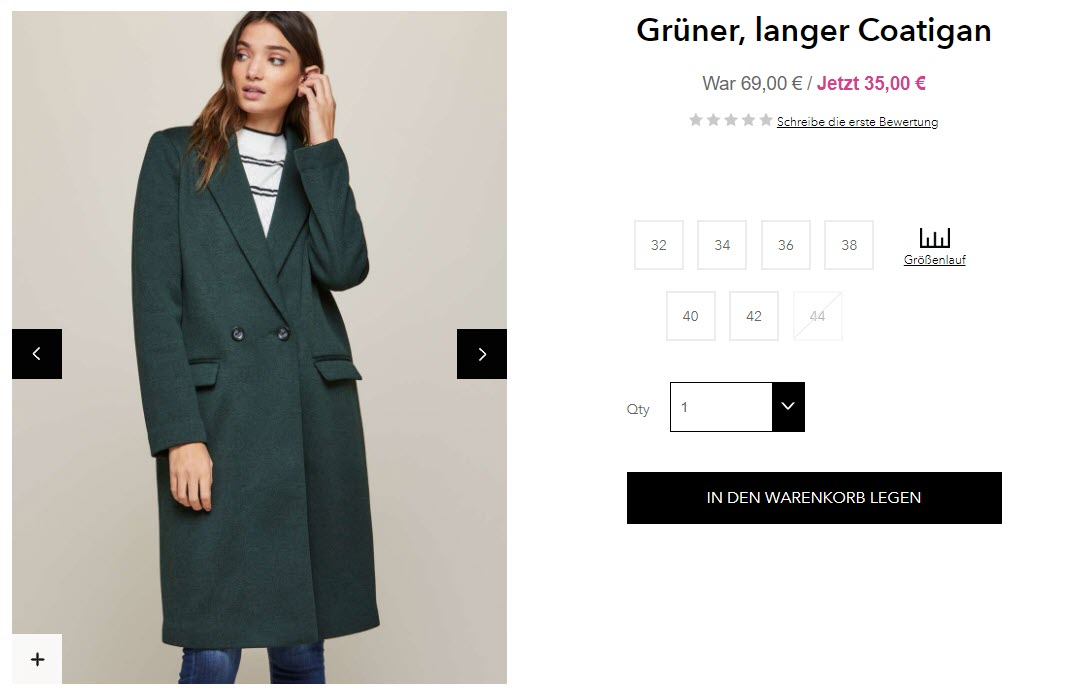 Распродажа женской одежды скидка 50% из магазина Miss Selfridge (Германия)