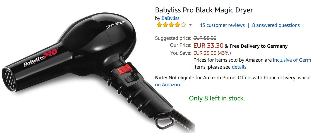 Идеальная укладка с Babyliss  скидки до 47% из магазина Amazon (Германия)