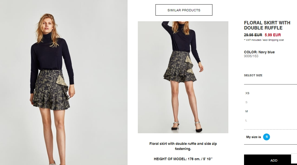 Скрытые SALE товары  скидки до 80% из магазина Zara (Германия)