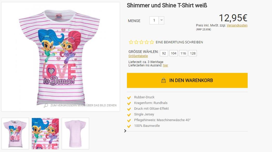 2 футболки за - 14,95€ Скидка 50% из магазина Lamaloli (Германия)