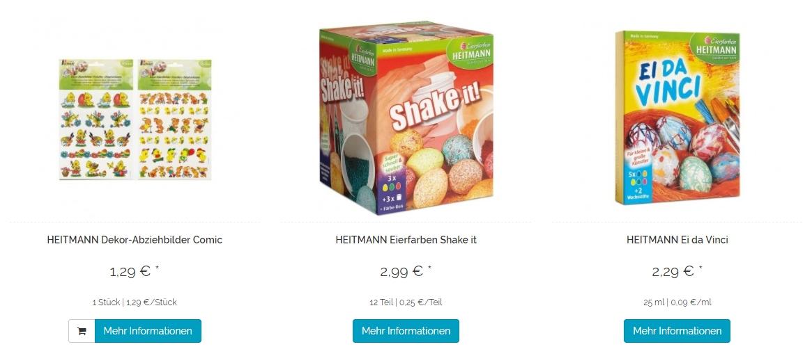 Пасхальные аксессуары Скидки до 30% из магазина Heitmann Hygiene (Германия)