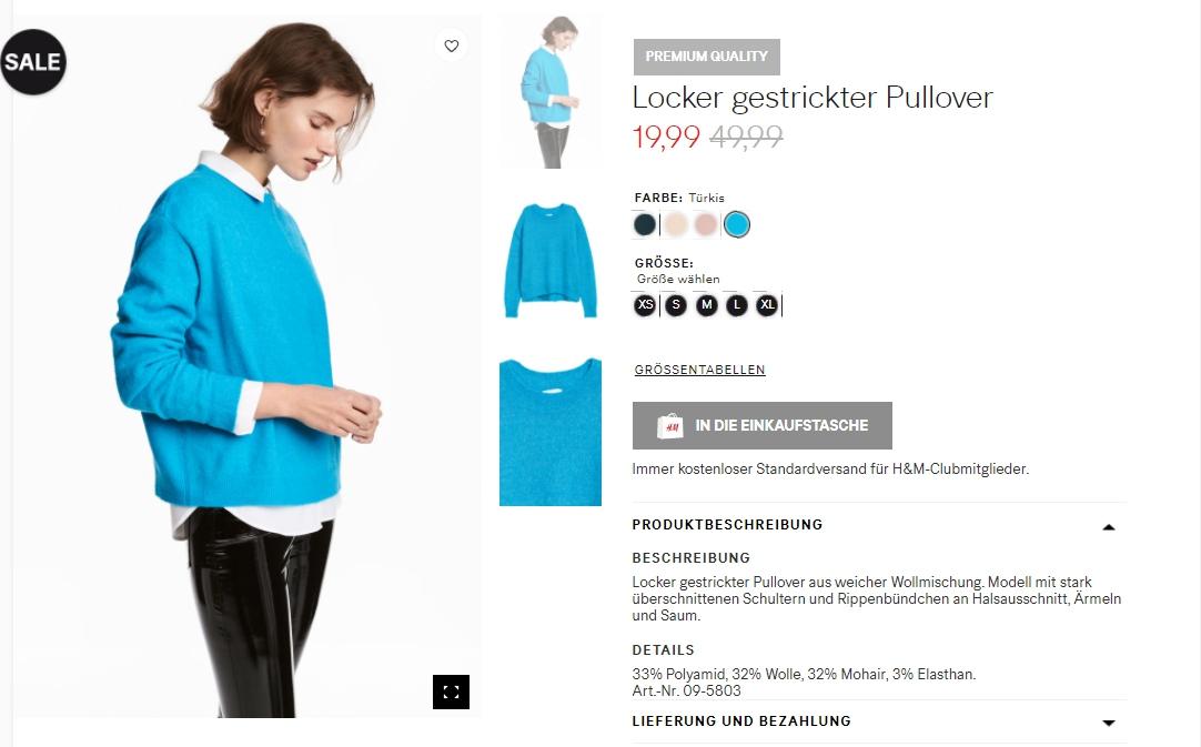 Бесплатный шип Скидки до 60% из магазина H&M (Германия)
