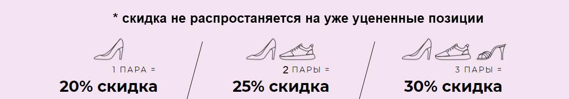 На женскую обувь Доп. скидка до 30% из магазина Nelly (Германия)