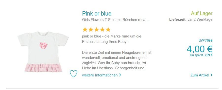 На детскую одежду Доп. скидка 20% из магазина Baby-Markt (Германия)