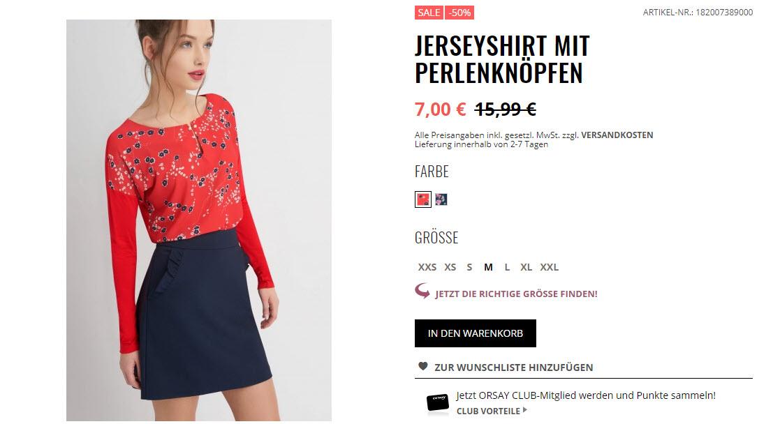 Сезонные скидки на женскую коллекцию скидки до 50% из магазина Orsay.com (Германия)