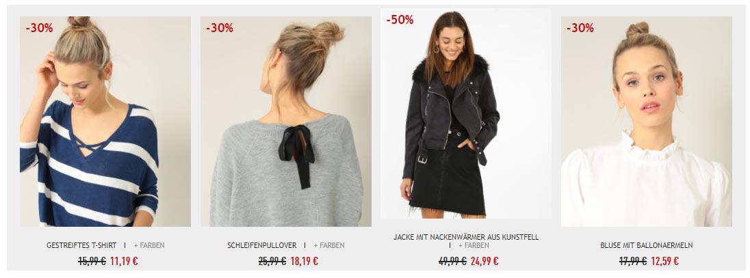 Сезонная распродажа женской одежды скидки до 50% из магазина Pimkie (Германия)