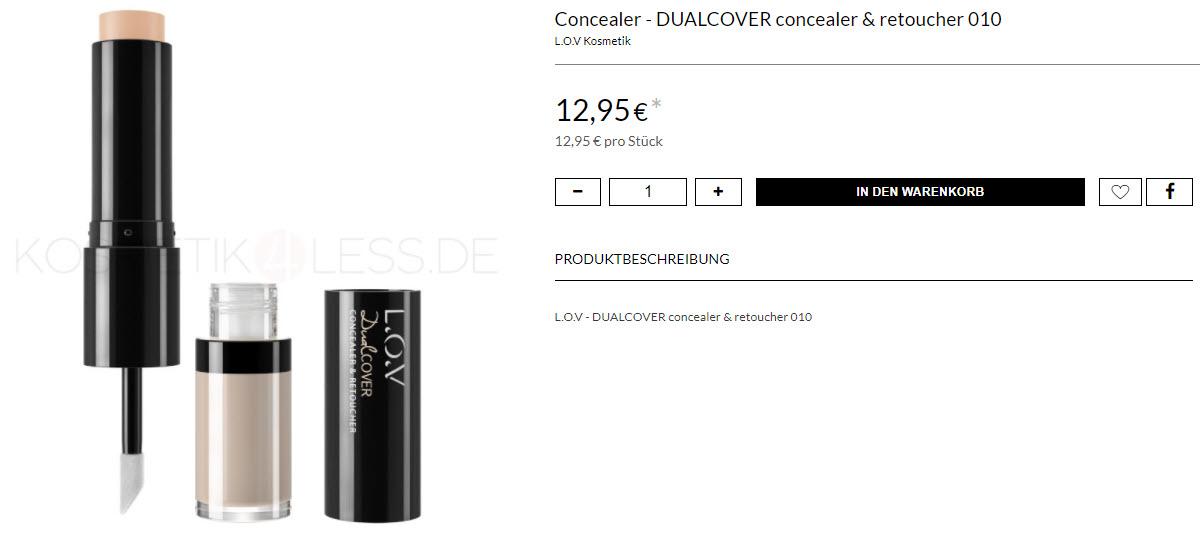 На косметику L.O.V  доп. скидка 20% из магазина Kosmetik4less (Германия)