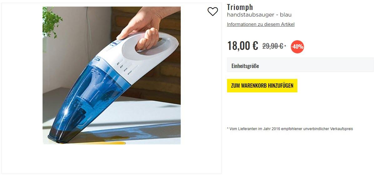 Техника для дома Triomph Доп. скидка 10% из магазина Brandalley (Германия)