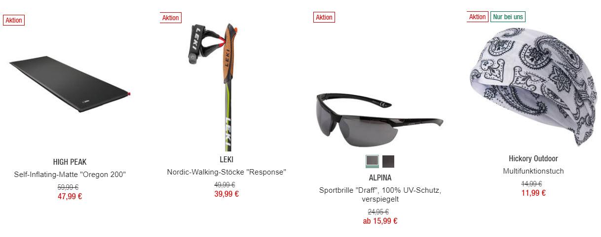 Одежда и снаряжение для похода скидка 20% из магазина GALERIA (Германия)