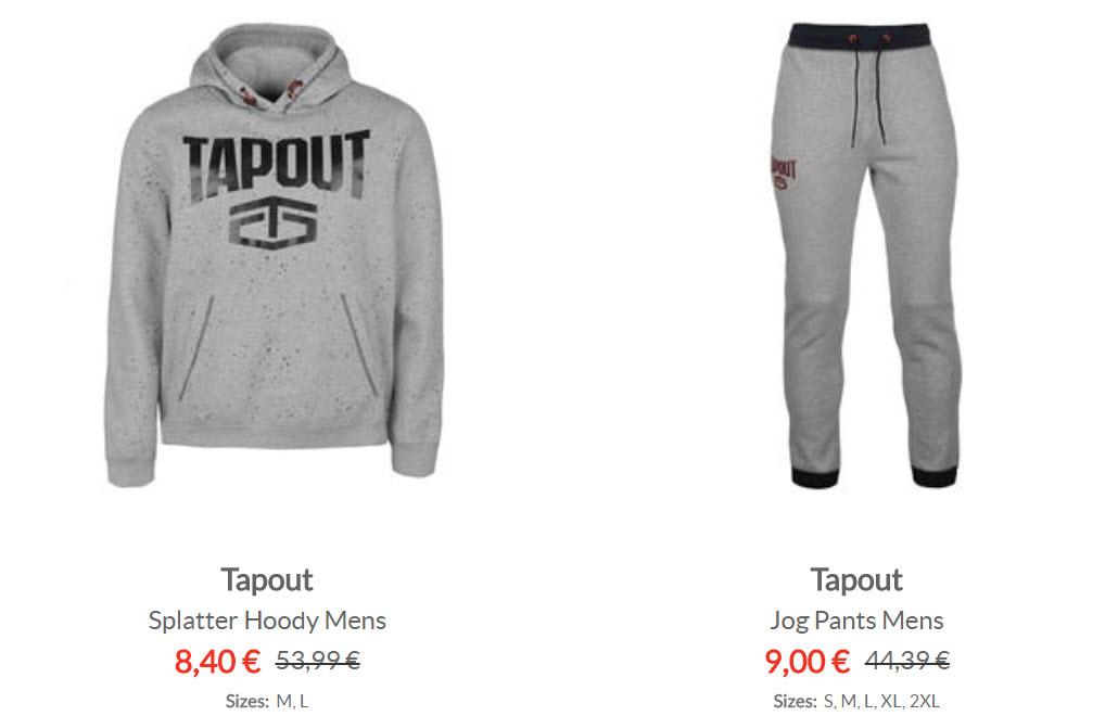 Спортивная одежда TAPOUT скидки до 90% из магазина Sports Direct (Германия)
