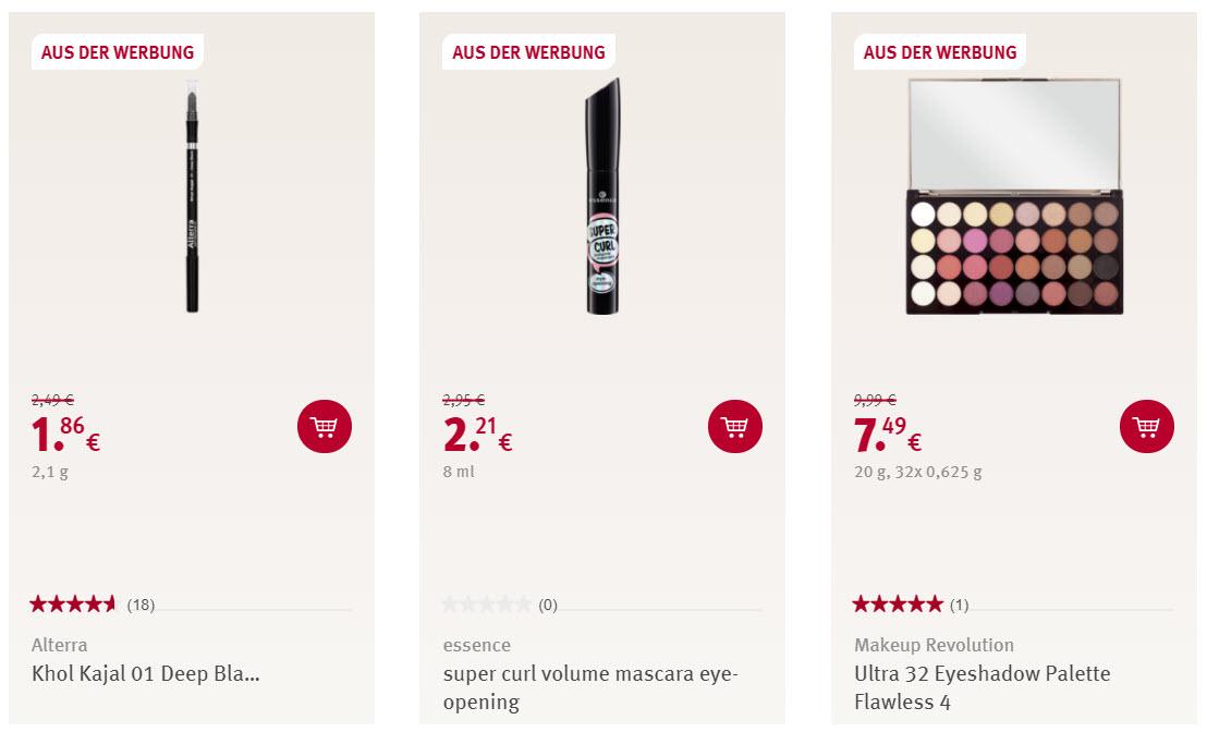 Косметика для глаз скидка 25% из магазина ROSSMANN (Германия)