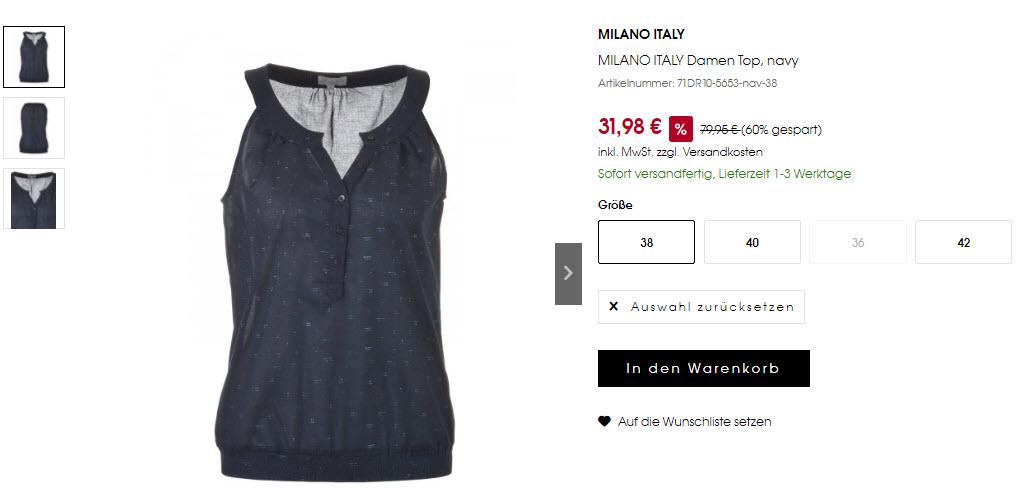 Брендовая одежда MILANO ITALY скидка 60% из магазина Designer Mode (Германия)