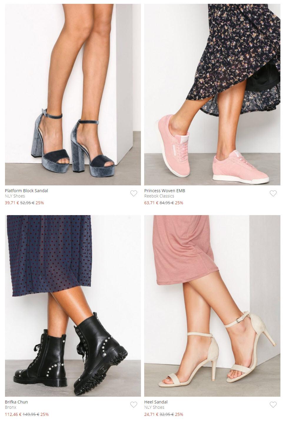Женская коллекция обуви скидка 25% из магазина Nelly (Германия)