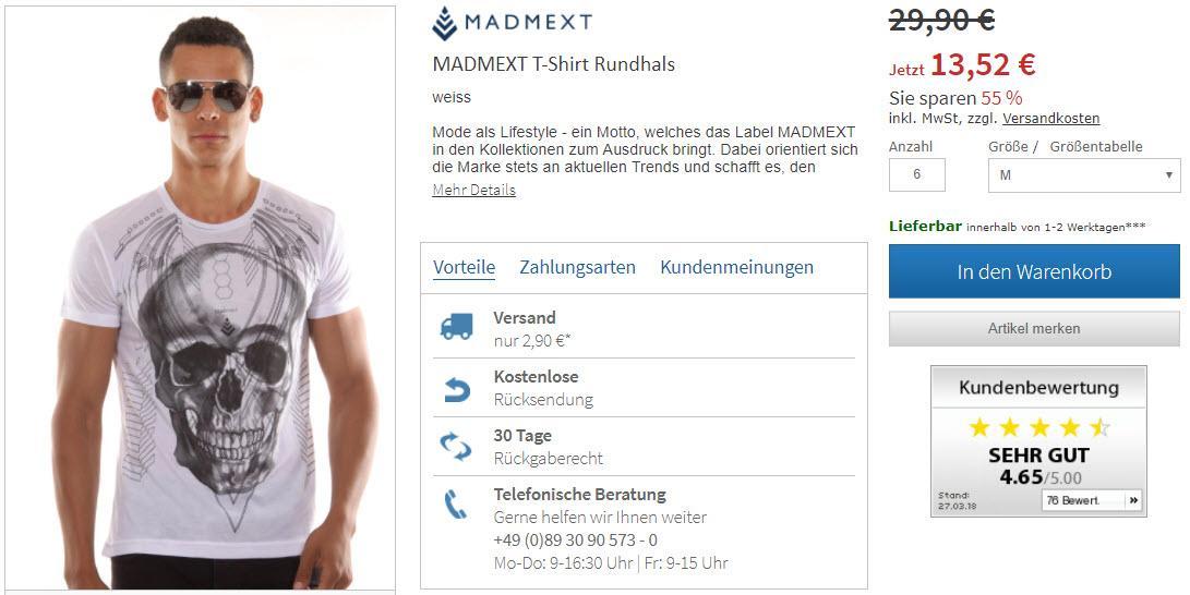 Мужские футболки Доп. скидка до 25% из магазина Oboy (Германия)